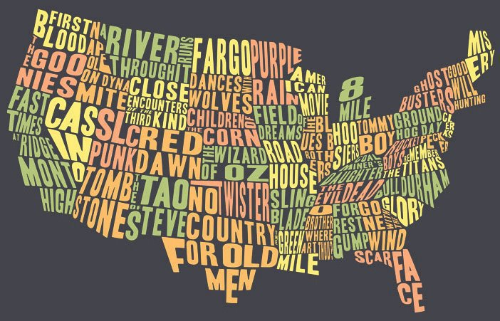 Signs O The Weird Times For May Big Fish Ink - Weird maps of the us