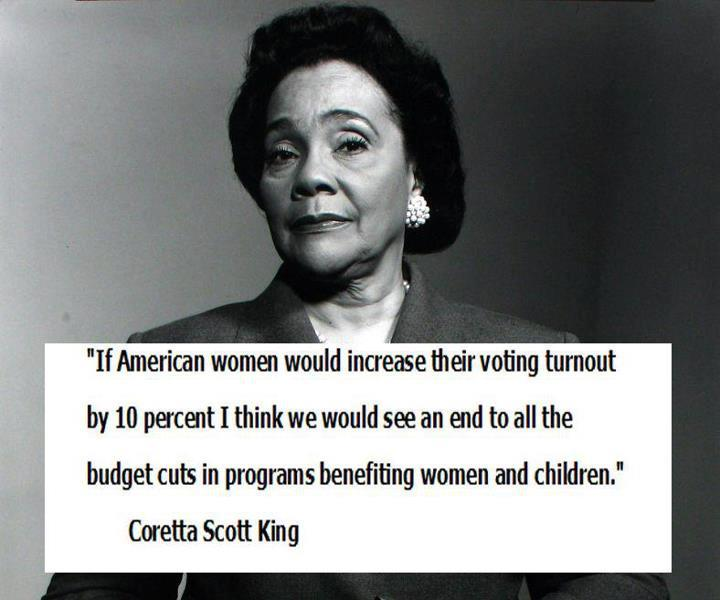 Today's Quotes Coretta Scott King Ann Coulter President Obama Delectable Coretta Scott King Quotes
